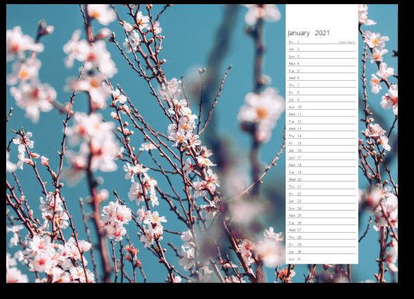 A4 landscape wall calendars