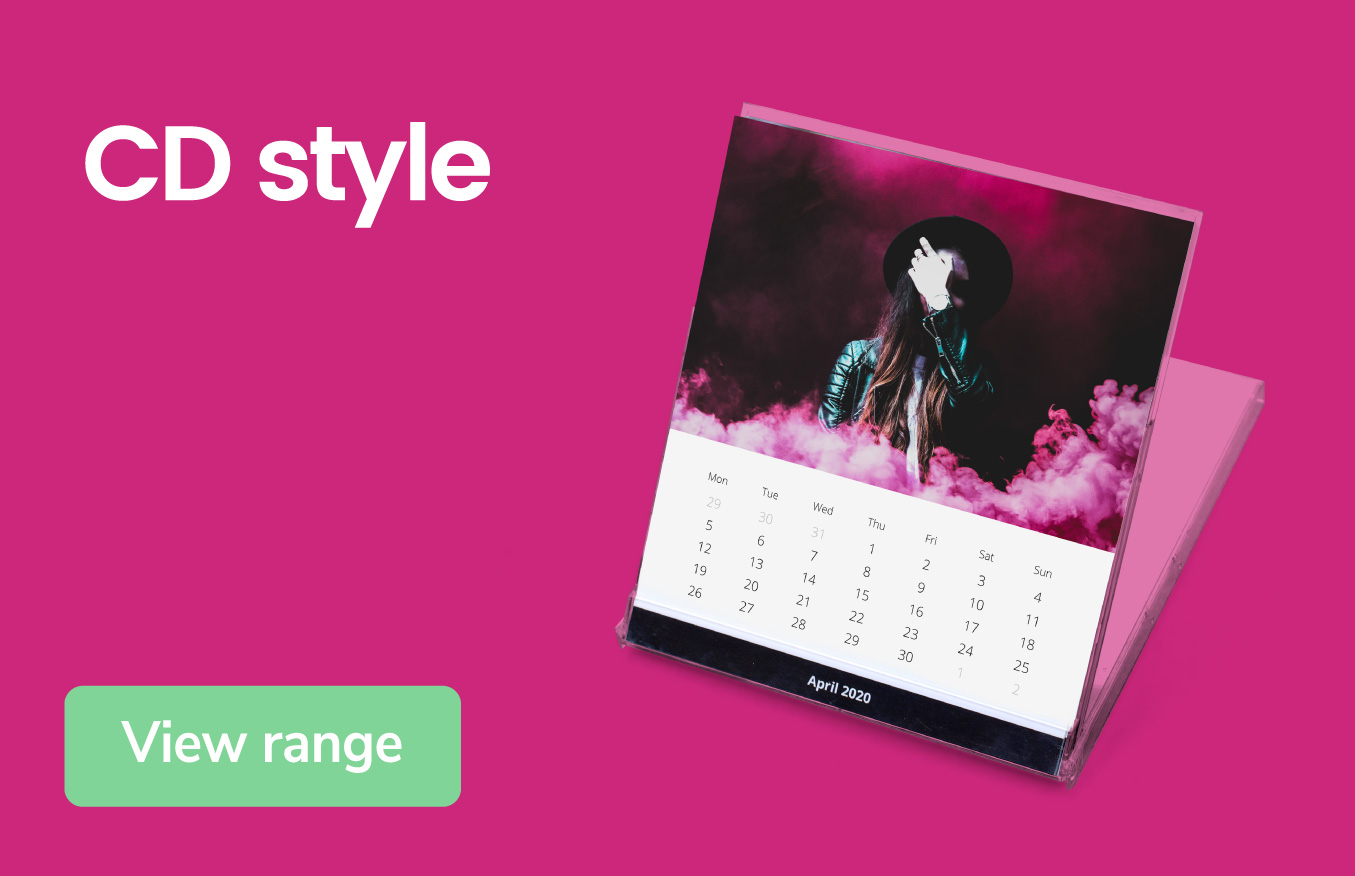 Retro CD style calendars