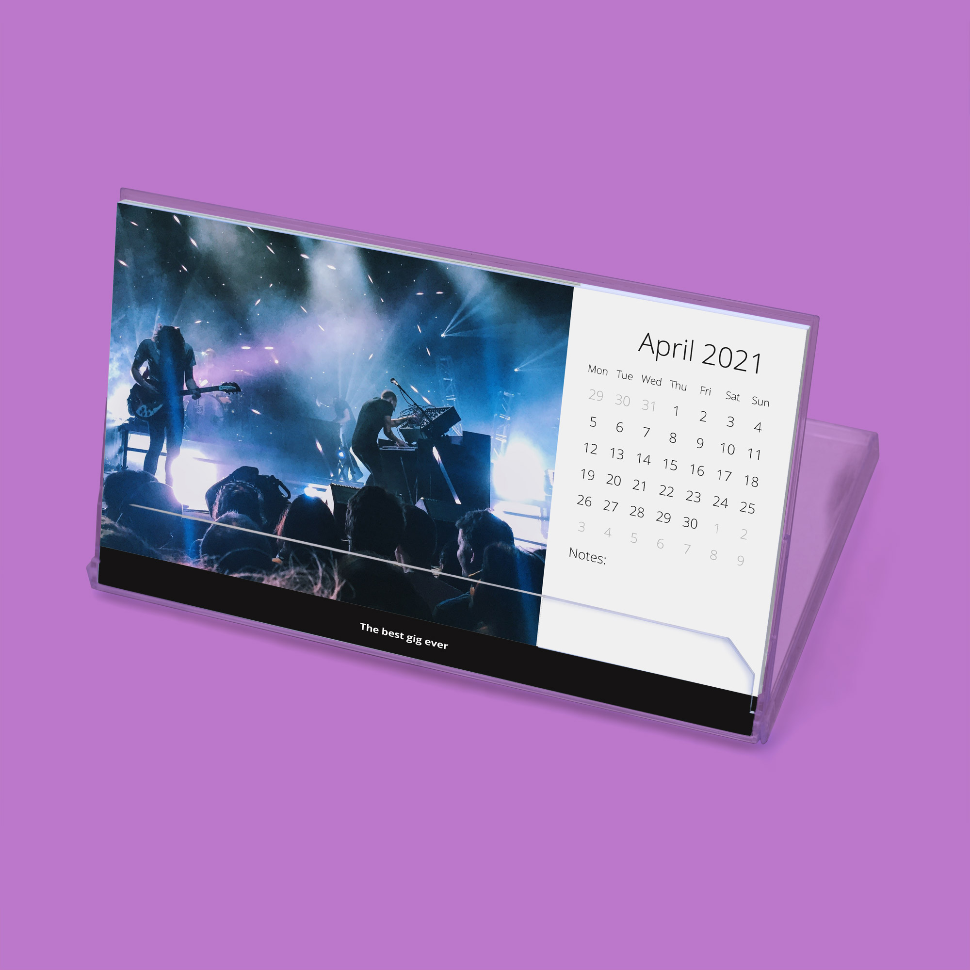 Large format CD desktop calendar