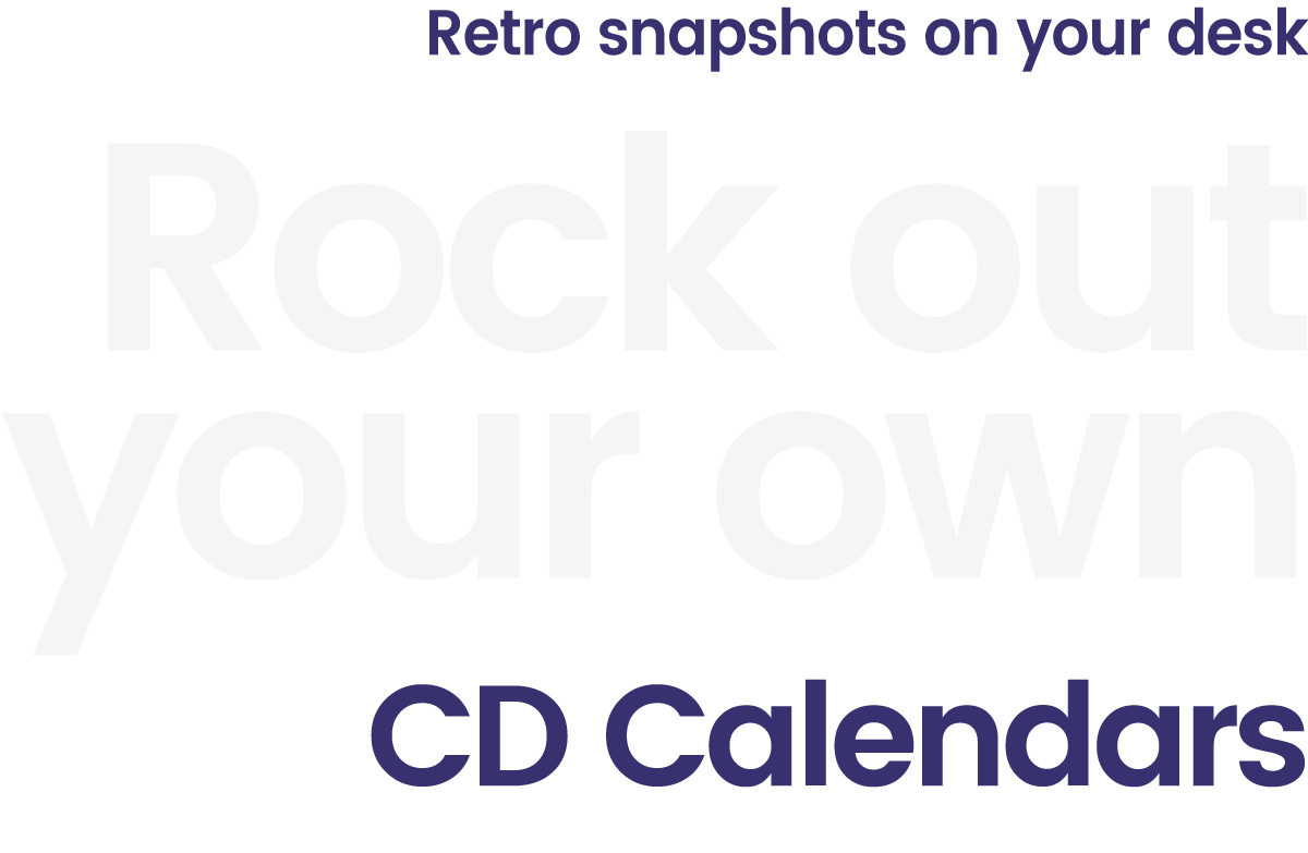 Rock out your own retro CD calendars