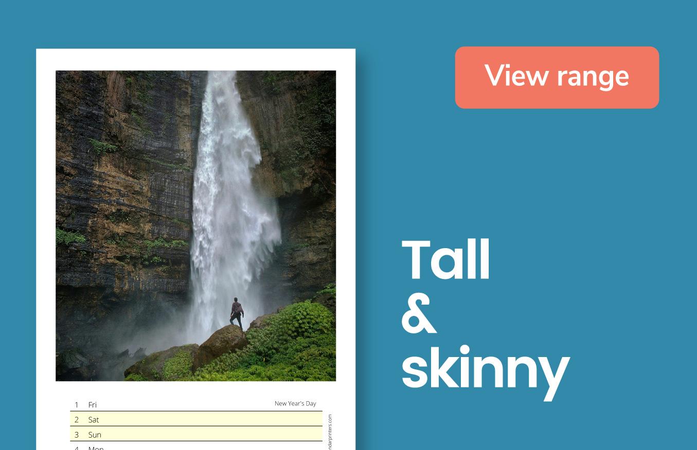 Tall & Skinny calendars