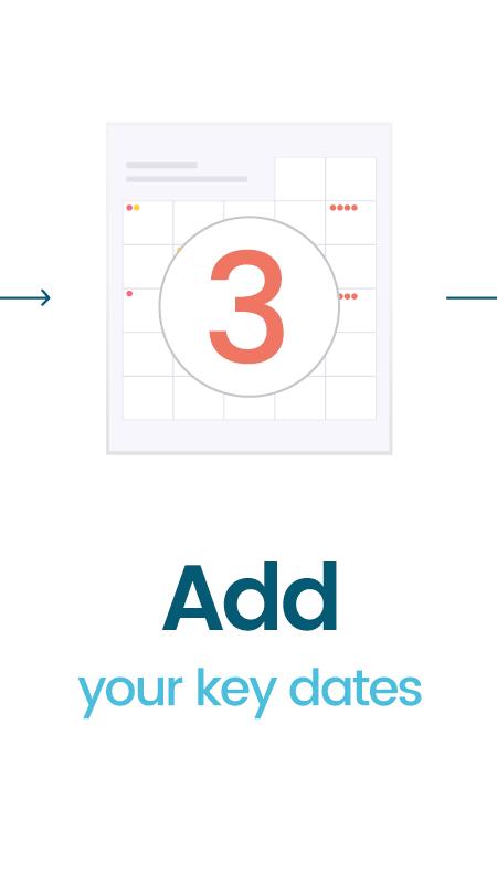 add your key dates