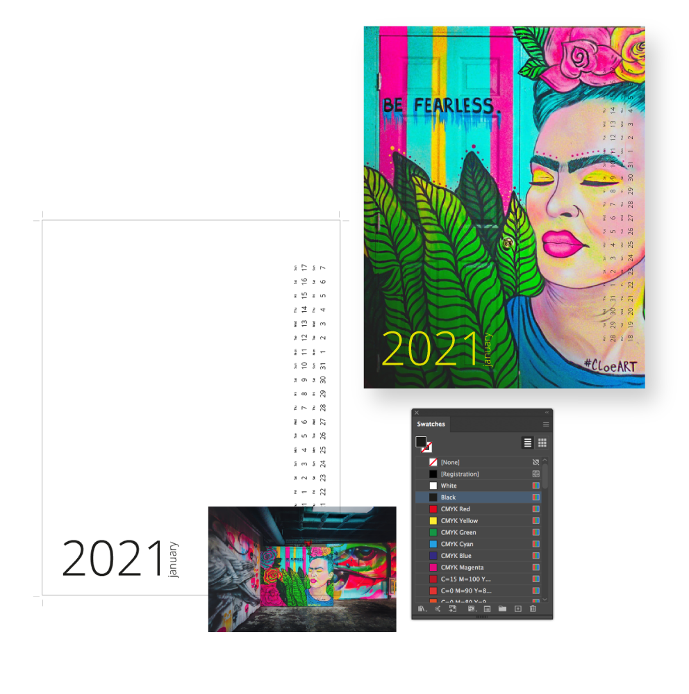 Create calendars from your own artwork